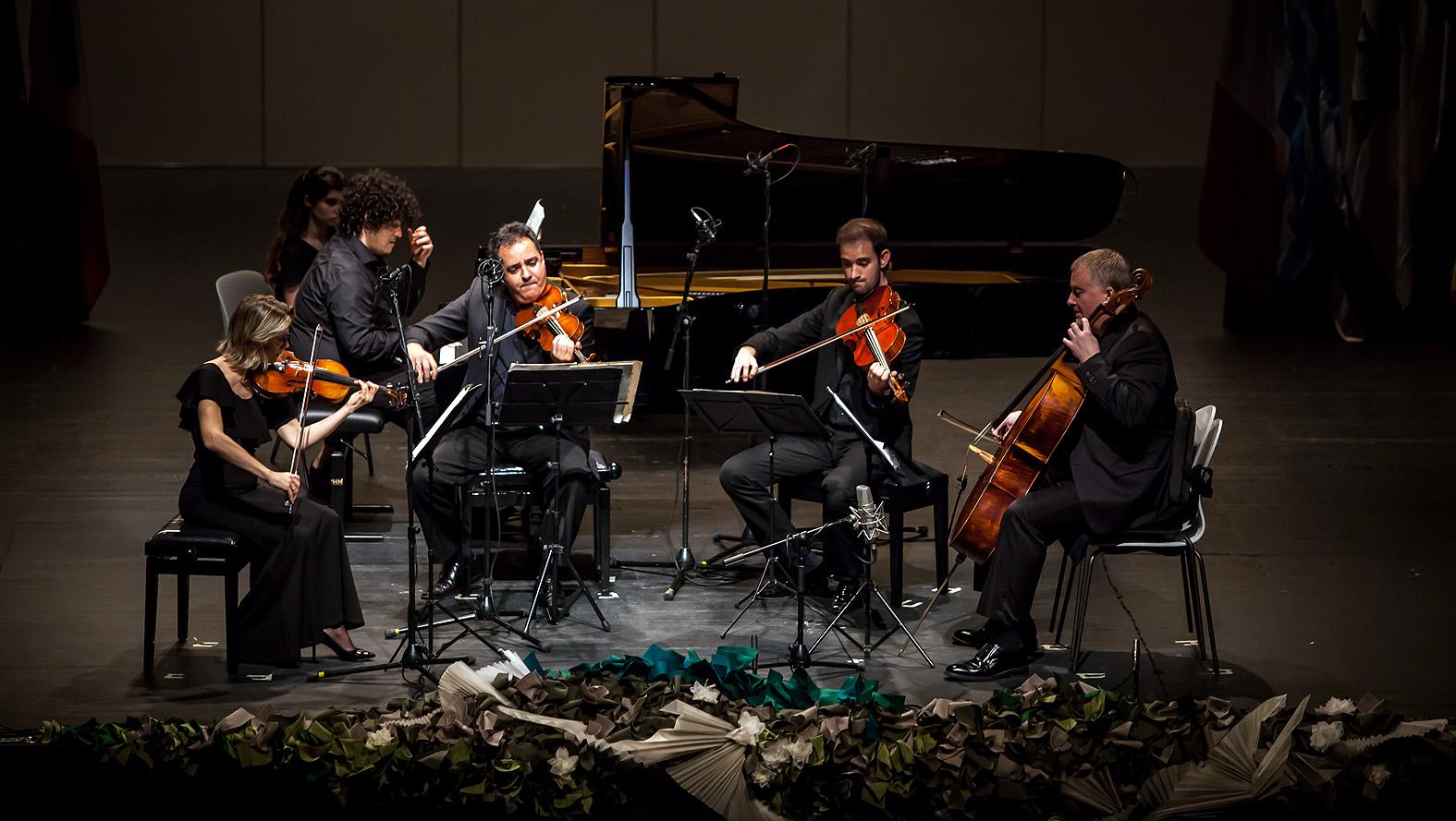 Carlos de la Blanca Elorza / España / En la semifinal con el Cuarteto Bretón