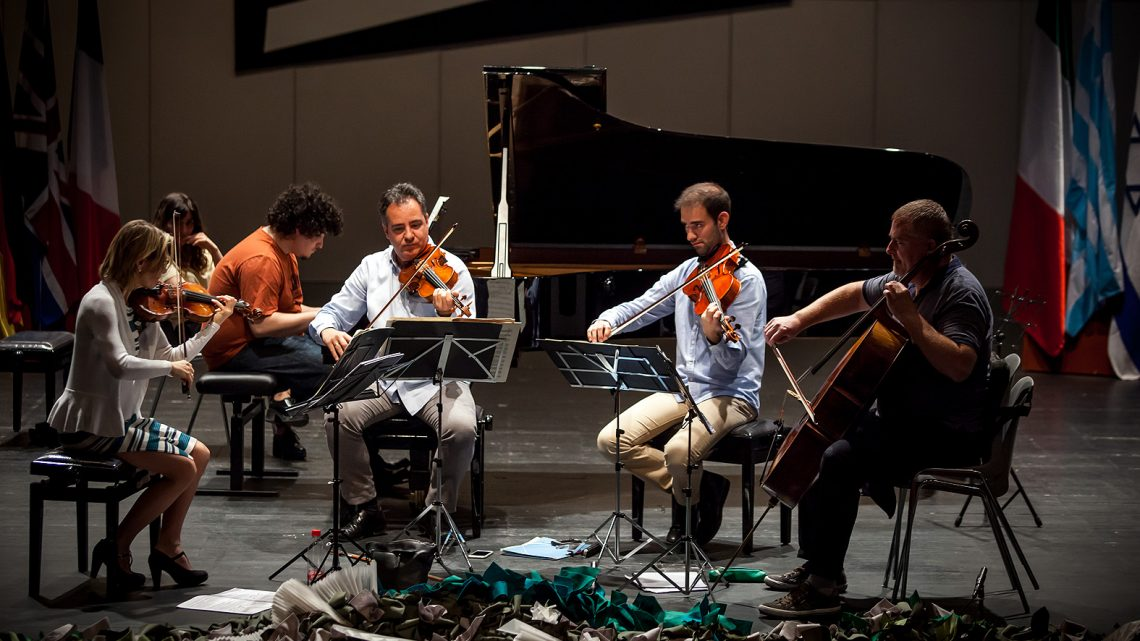 The semifinalists of the 61st Jaén International Piano Competition prepare the chamber music test with the Breton Quartet