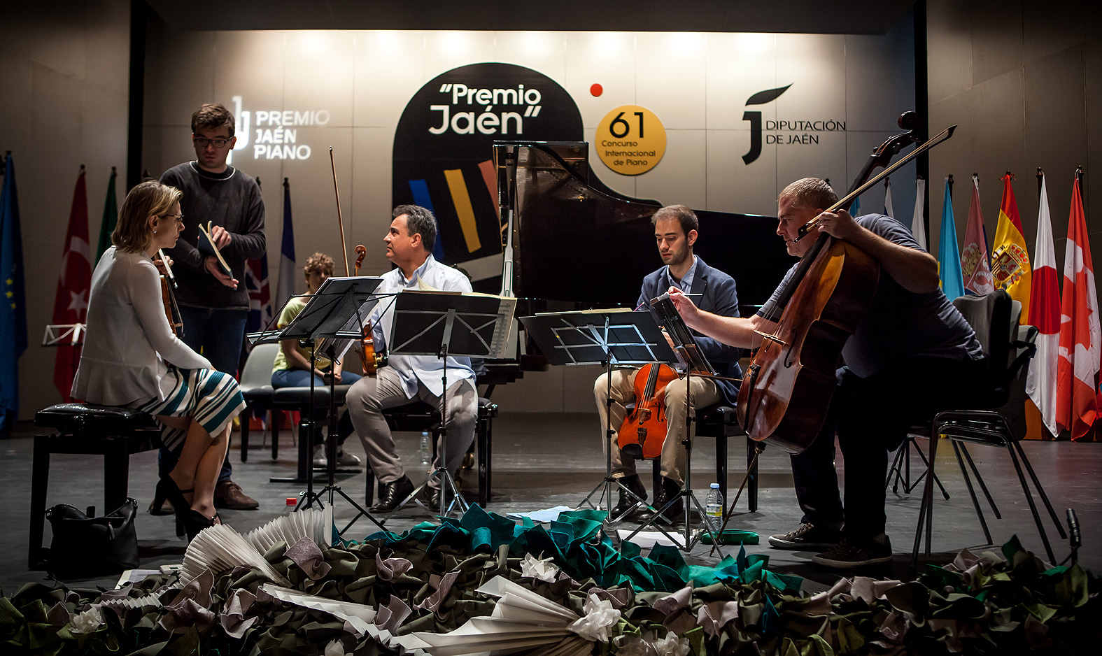 Ensayos de los pianistas con el Cuarteto Bretón