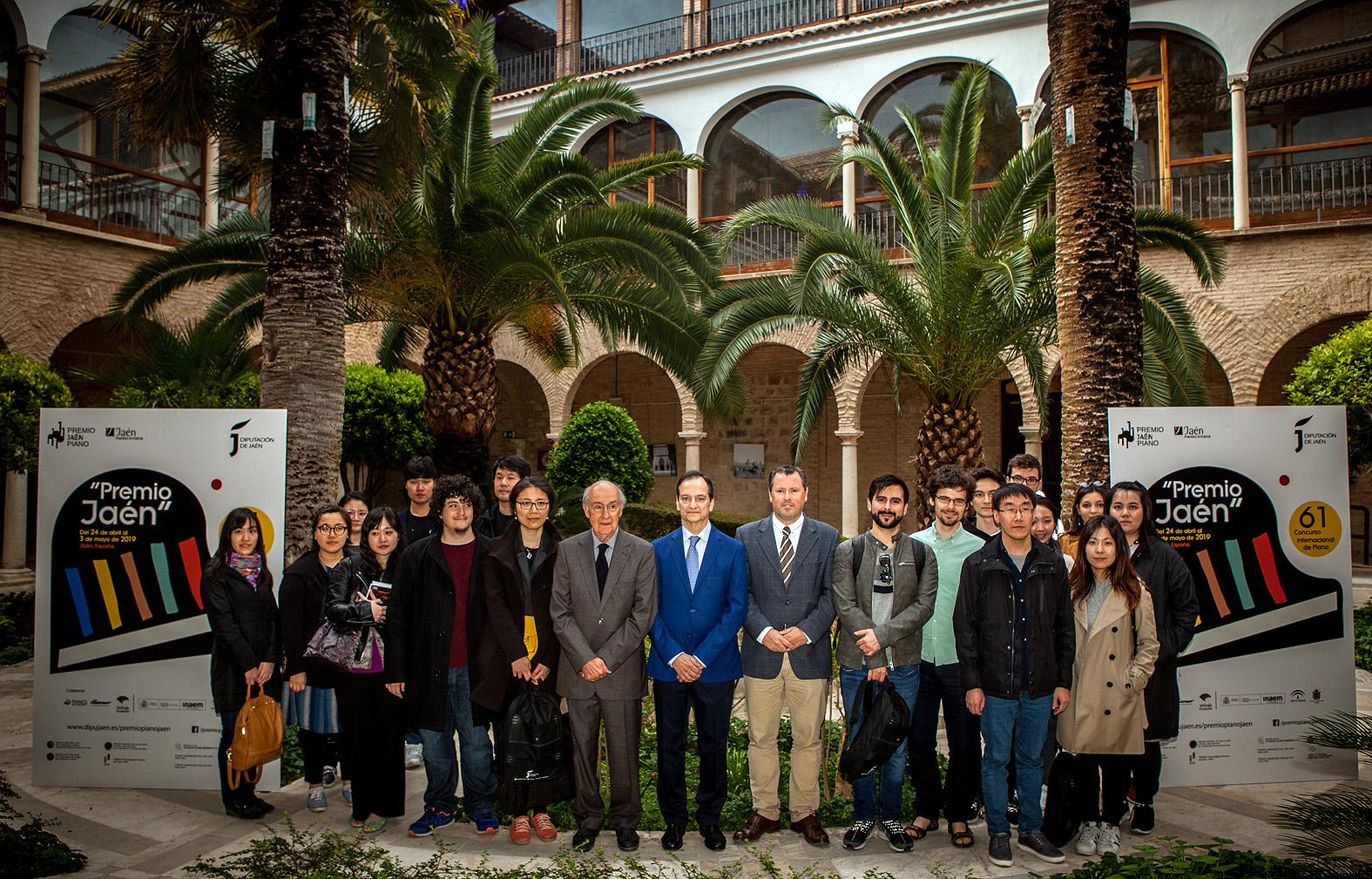 Participantes de la 61 edición del Premio Jaén de Piano