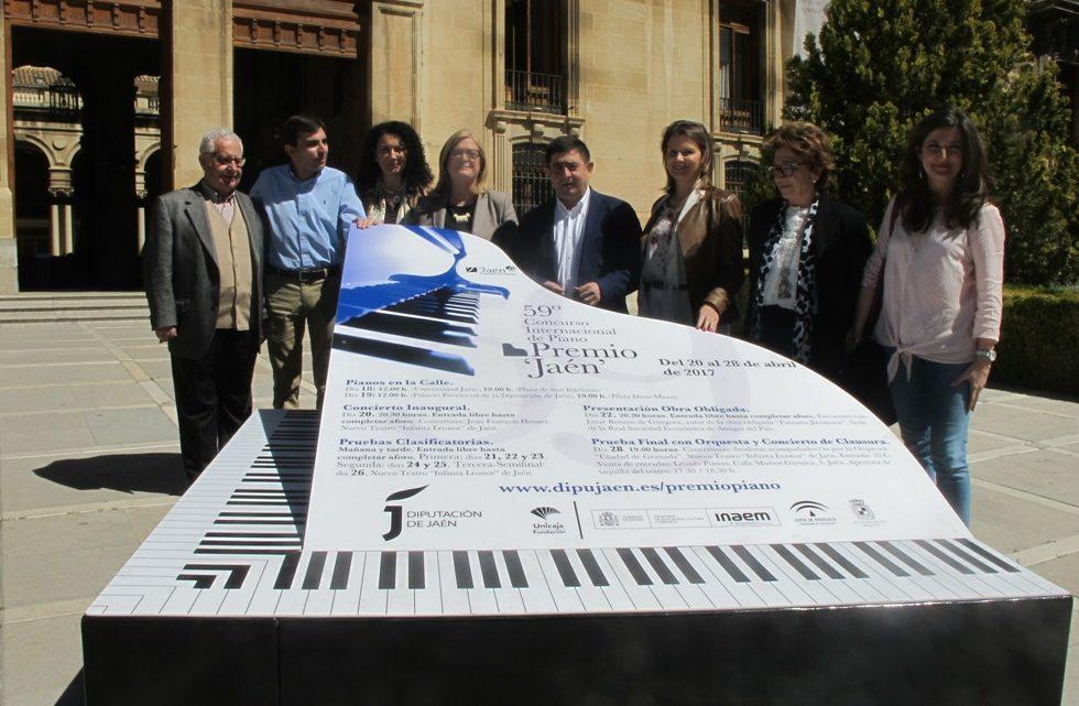 Un total de 64 pianistas de 17 nacionalidades distintas se han inscrito para participar en el 59º Premio 'Jaén' de Piano