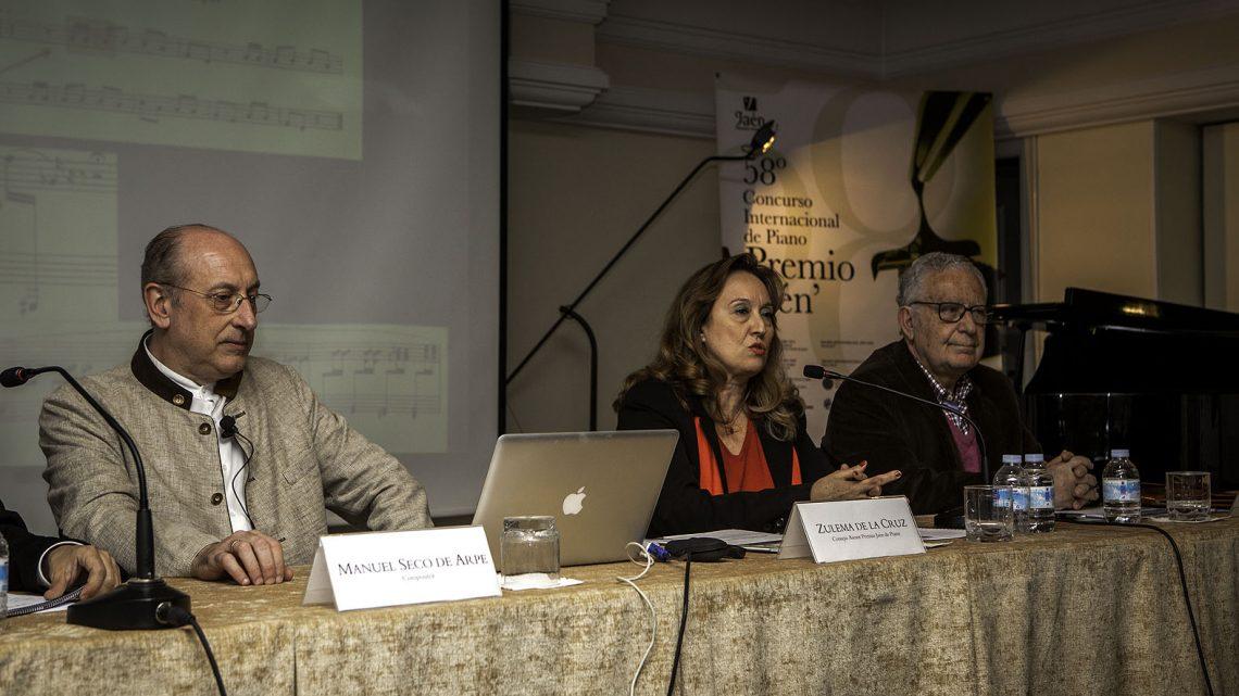 El compositor de la obra obligada del 58º Premio «Jaén» de Piano de la Diputación comparte con el público jiennense las claves de esta pieza musical