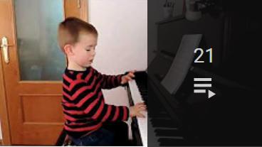Acceso a la lista de vídeos de Mi piano 2018