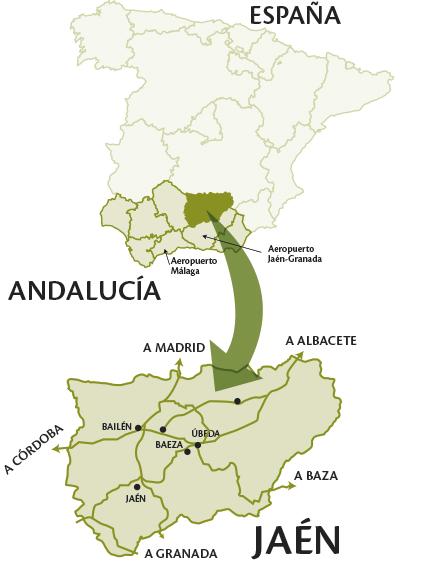 Mapa de ubicación de Jaén
