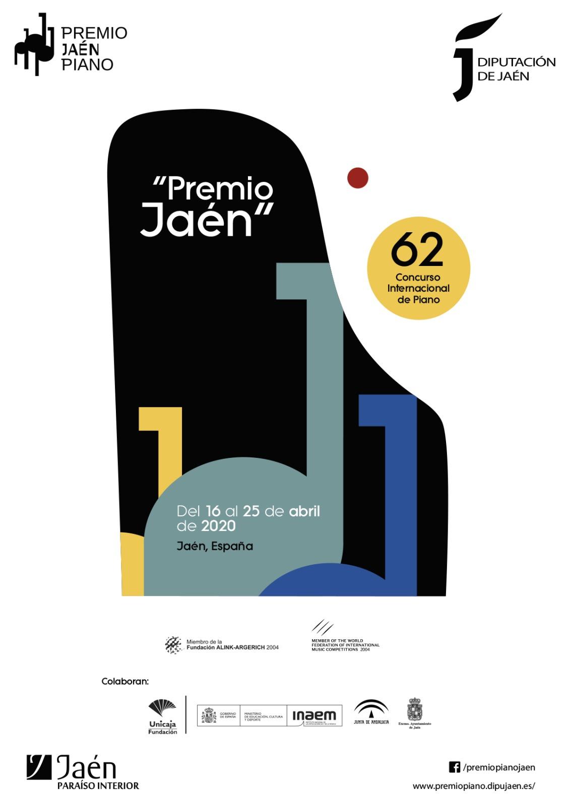 Diputación decide suspender el 62º Premio 'Jaén' de Piano tras la incertidumbre generada por la pandemia del coronavirus