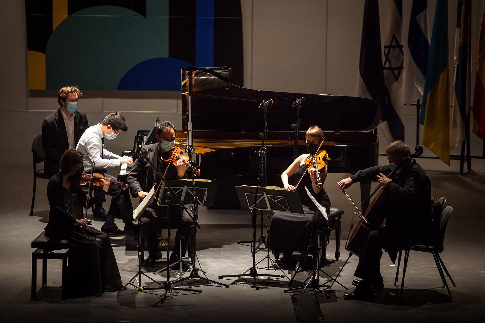 Po-Wei Ger de Taiwán con el Cuarteto Bretón