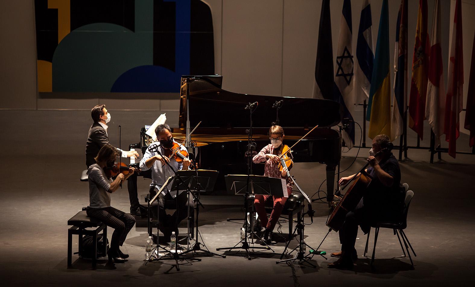 Primeros ensayos junto al Cuarteto Bretón